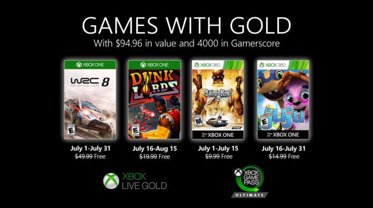 Xbox Live Gold июль 2020 года