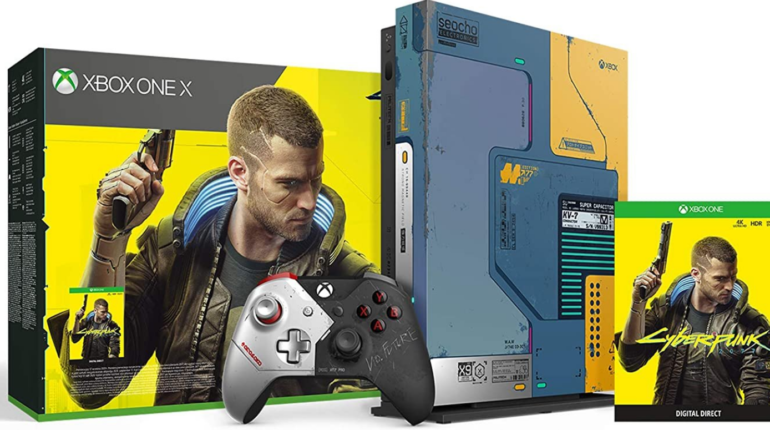 Xbox One X Cyberpunk 2077 Limited Edition Bundle поступил в продажу