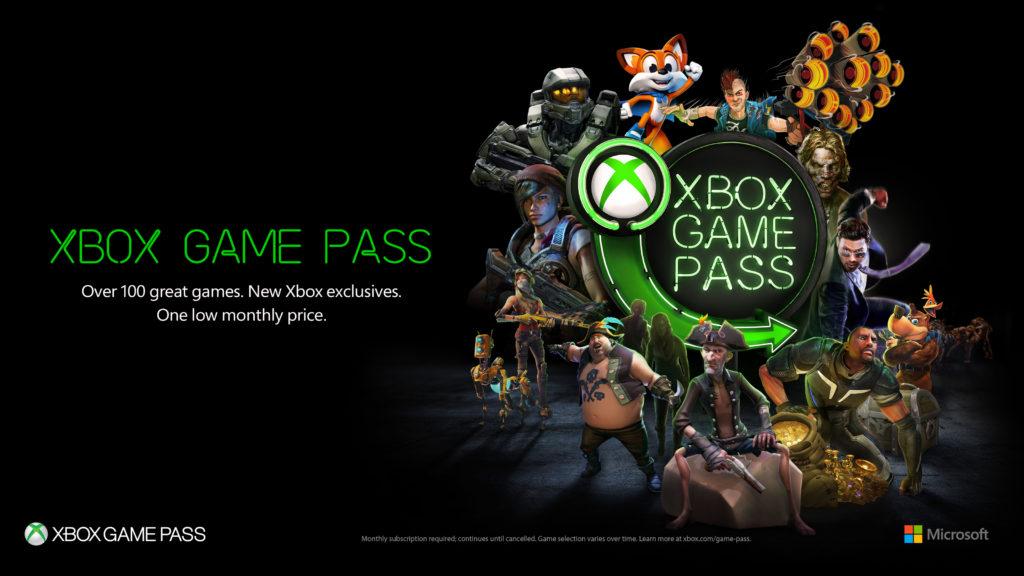 Xbox Game Pass Character Breakout Horizontal Black