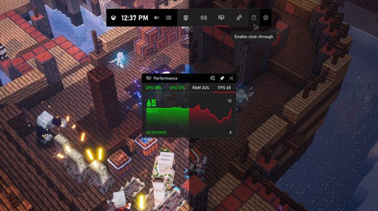 Обновление игровой панели Xbox. Xbox Game Bar
