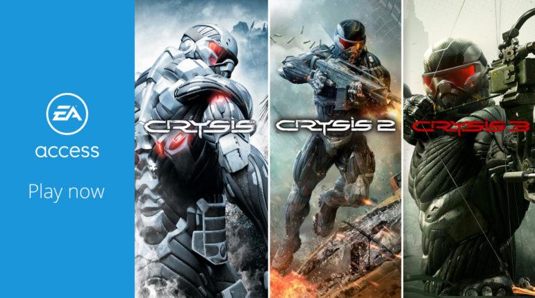 Трилогия Crysis теперь доступна в EA Access