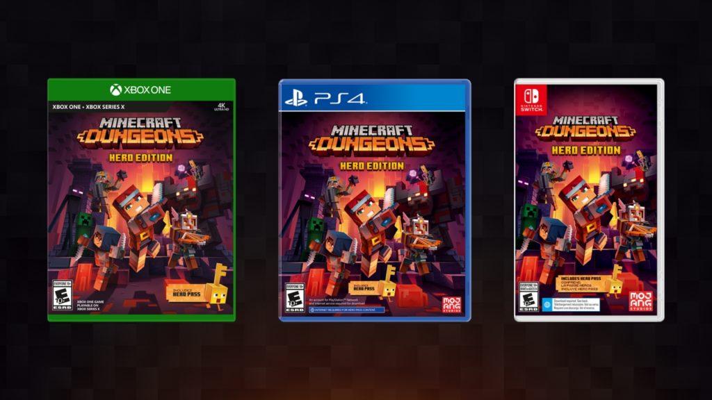 Minecraft Dunegons на дисках вместе с новым DLC