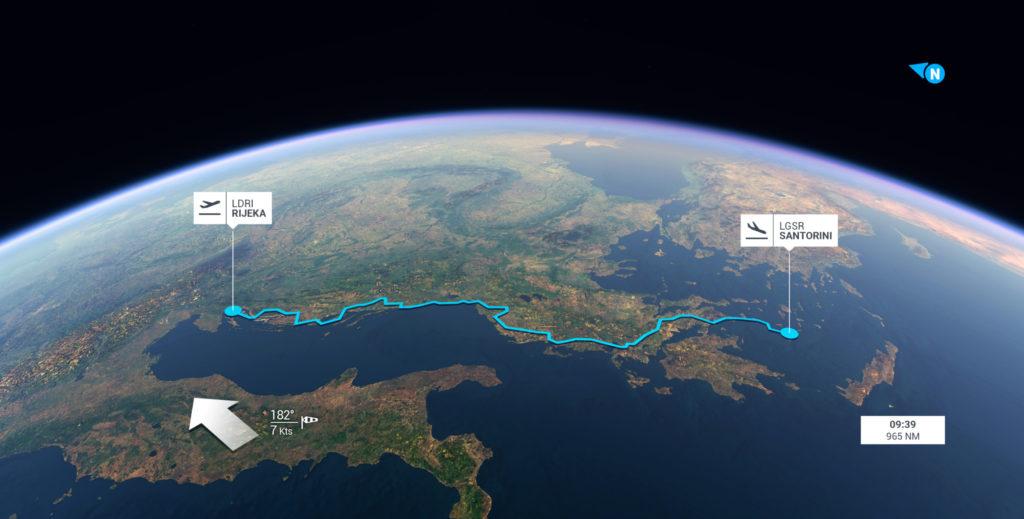 Microsoft Flight Simulator полет по ориеентирам на Балканах