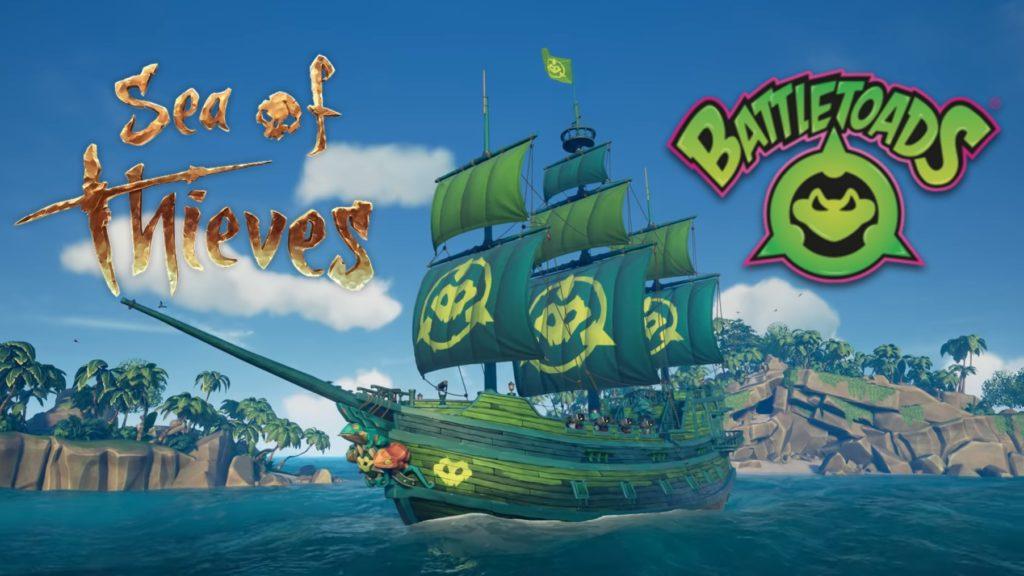 Бонус для игроков Battletoads в Sea of Thieves