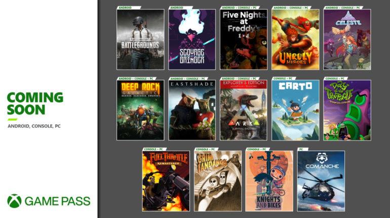 Xbox Game Pass ноябрь 2020 года