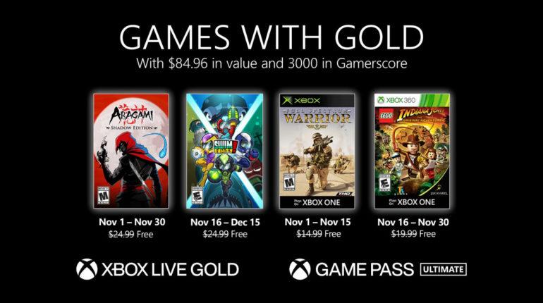 Xbox Live Gold ноябрь 2020 года