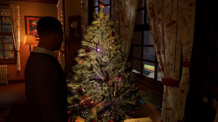 MARVEL Человек-Паук_ Майлз Моралес_Майлз дома возле новогодней елки