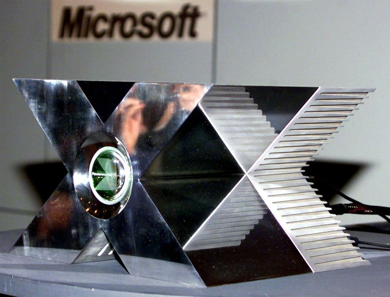 A non-working model of Microsoft's XBox game console