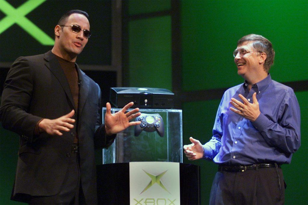 Bill Gates and Dwayne The Rock Johnson