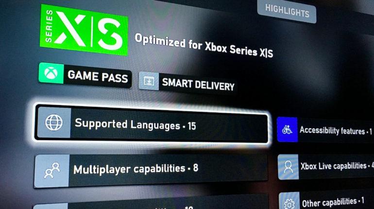 Игроки Xbox теперь увидят поддерживаемые языки в играх перед их установкой