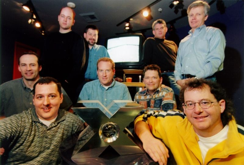 Xbox team members in March 2000