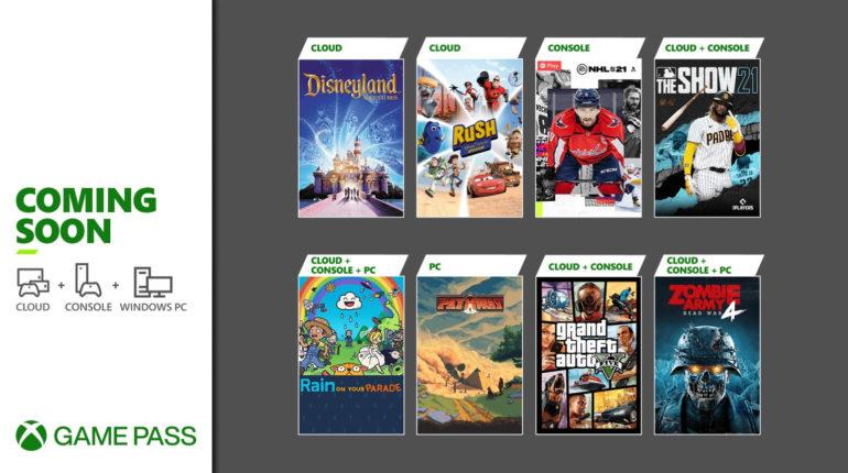 Xbox Game Pass апрель 2021