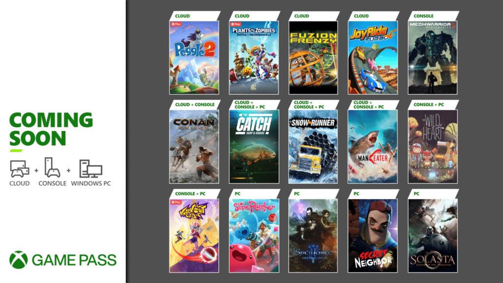 Вторая волна игр мая для Xbox Game Pass 2021
