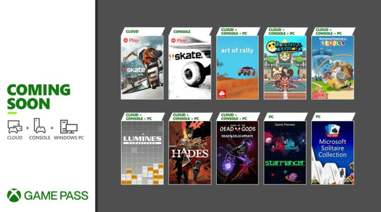 Xbox Game Pass Август 2021 - 1