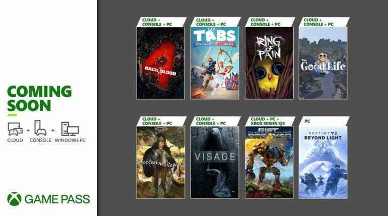 Xbox Game Pass 2021 октябрь -1