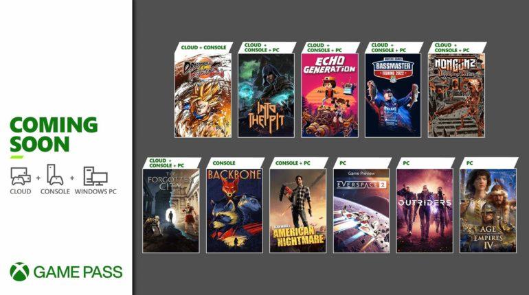 Xbox Game Pass 2021 октябрь - 2